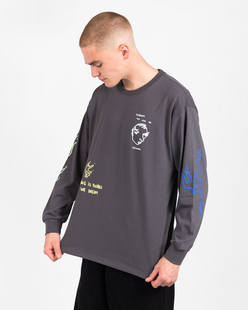 Polar Polar Notebook Longsleeve T-Shirt Graphite