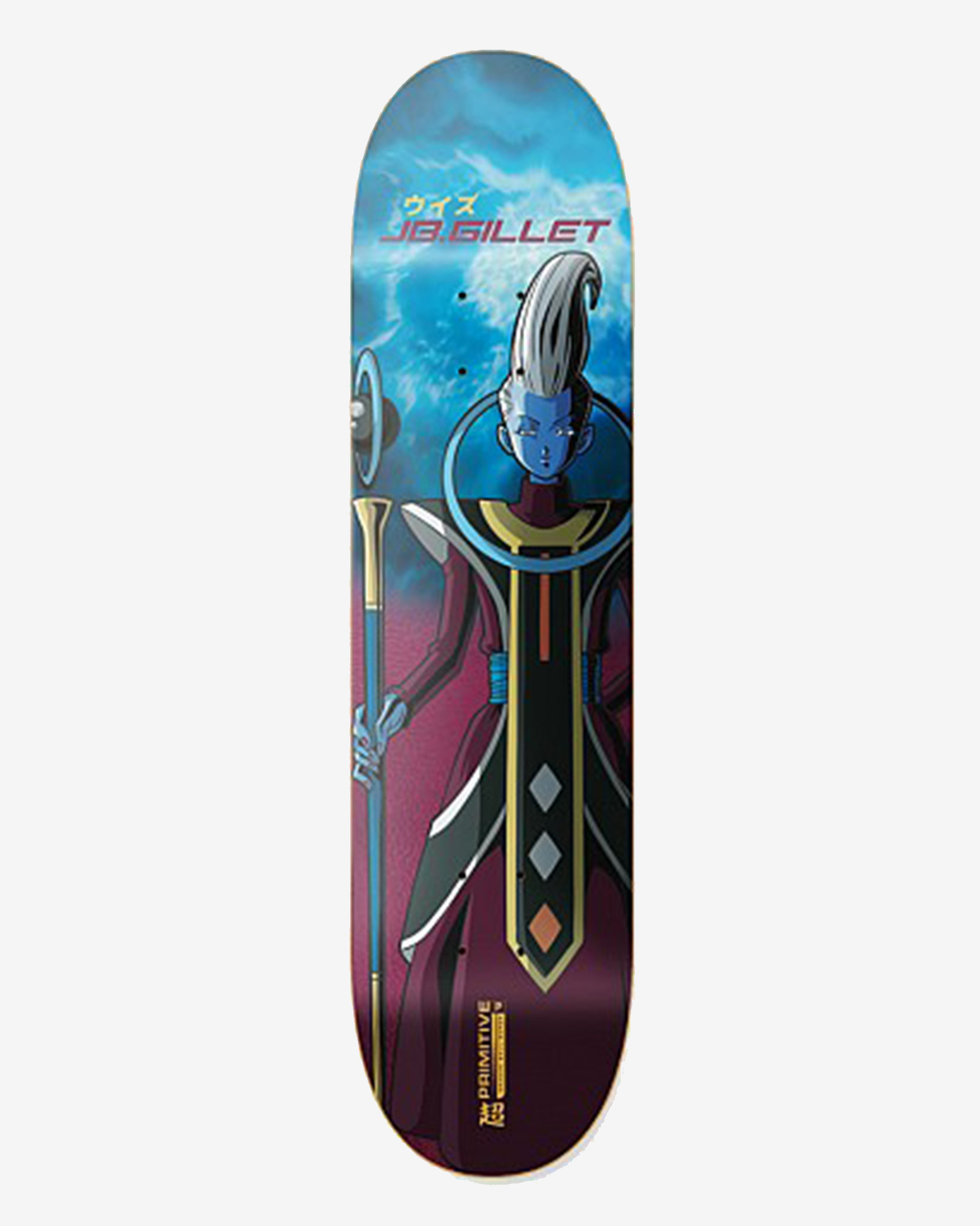Primitive Deck DBZ Super Gillet Whis Burgundy 8.375