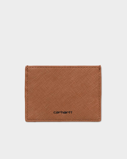 Carhartt Carhartt Card Holder Coated Hamilton Brown Black