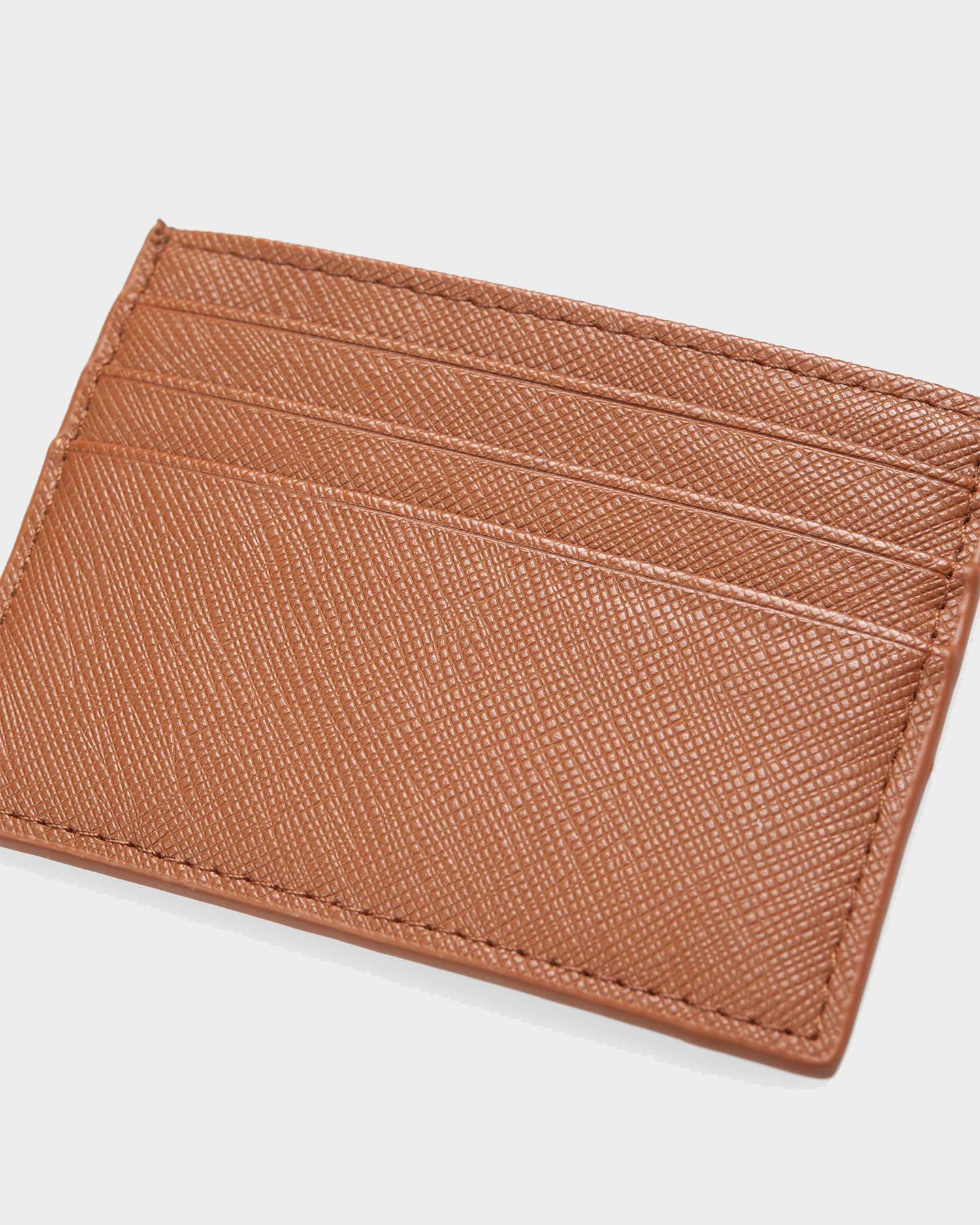 Carhartt Card Holder Coated Hamilton Brown Black