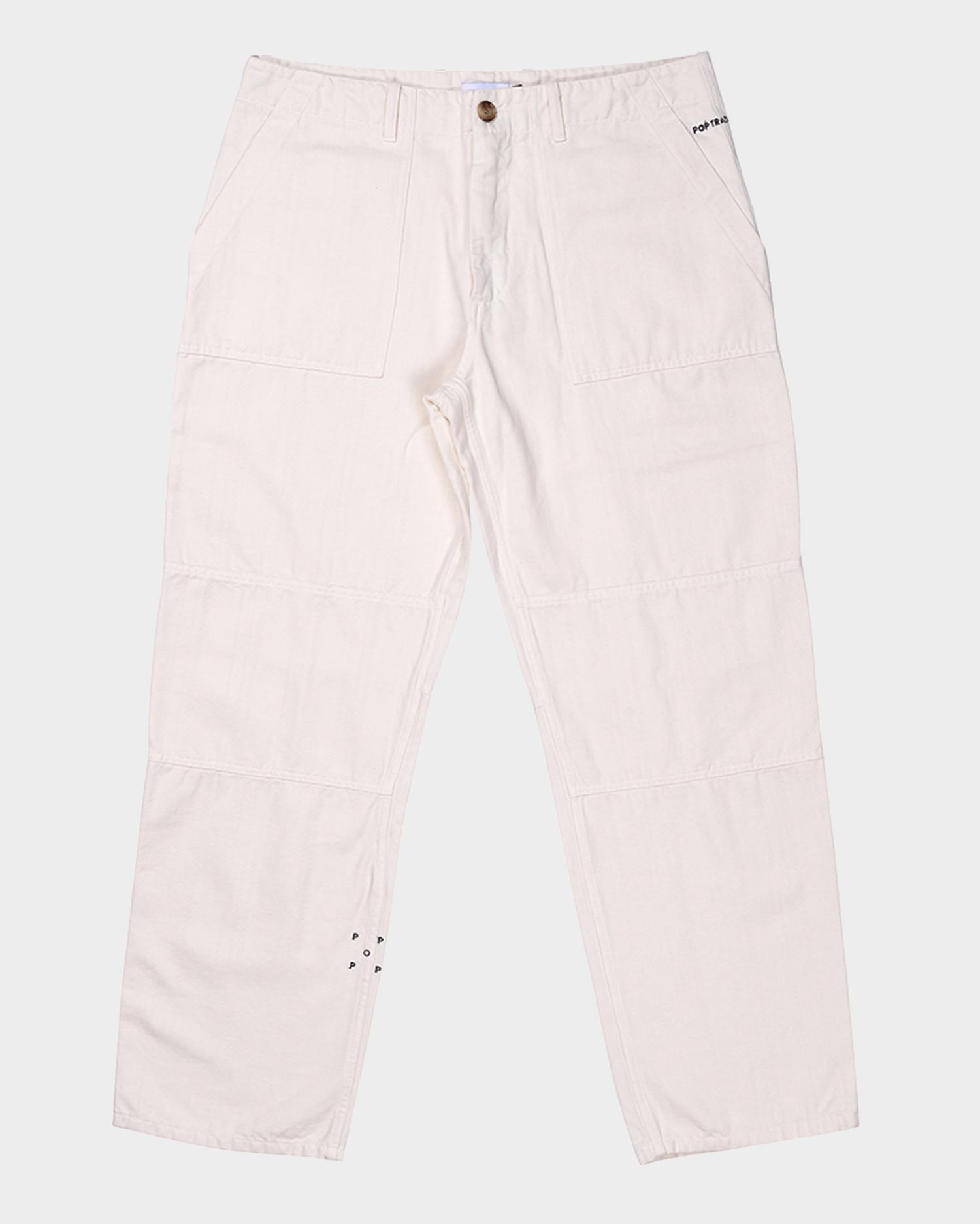 Pop Trading Company Phatigue Fam Pants Off White