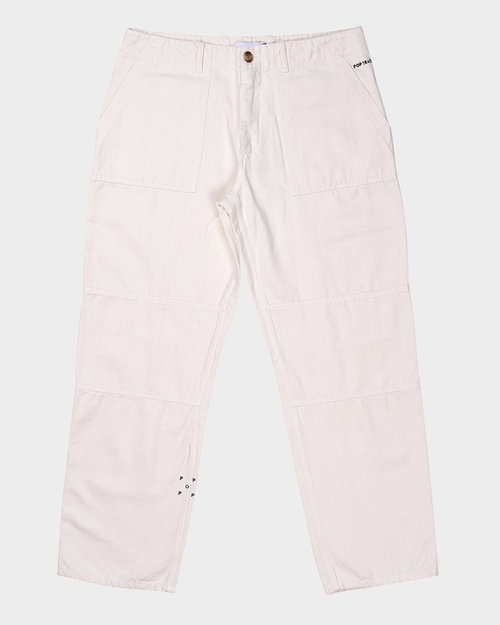 Pop Trading Co Pop Trading Company Phatigue Fam Pants Off White