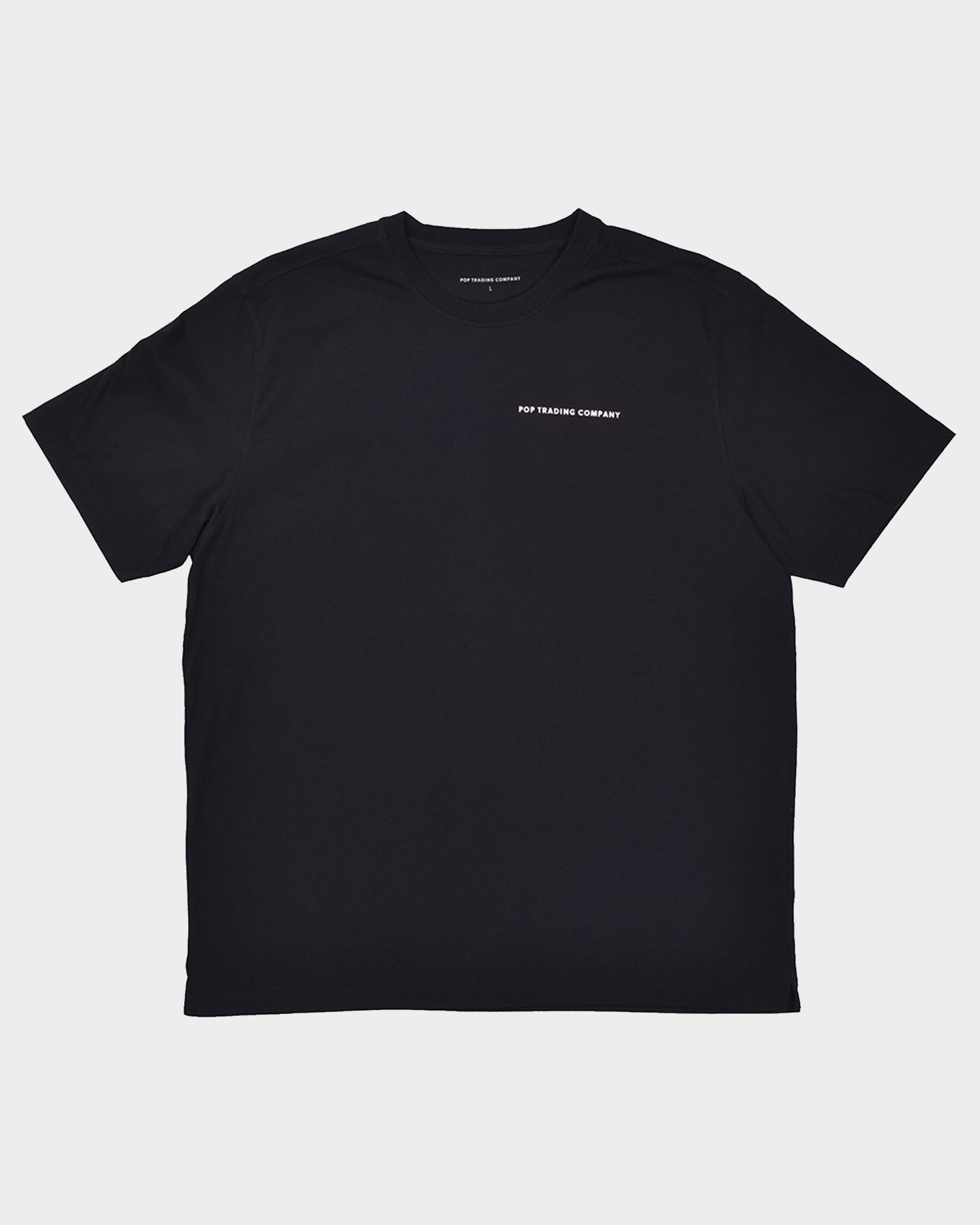 Pop Trading Company Logo T-shirt Black/White