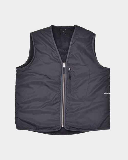 Pop Trading Co Pop Trading Company Harold Reversible Vest Anthracite
