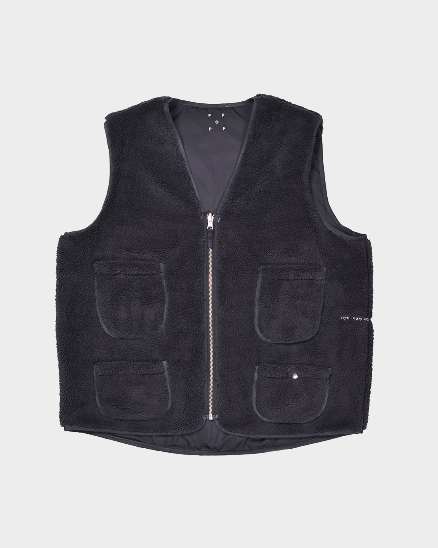 Pop Trading Company Harold Reversible Vest Anthracite