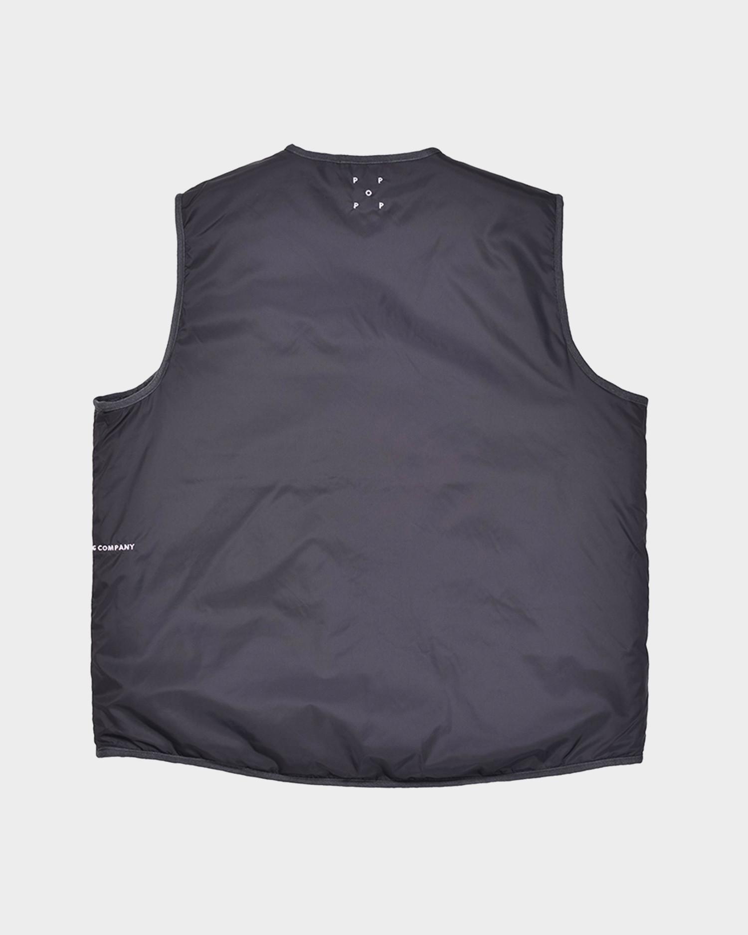 Pop Trading Company Harold Reversible Vest Anthracite