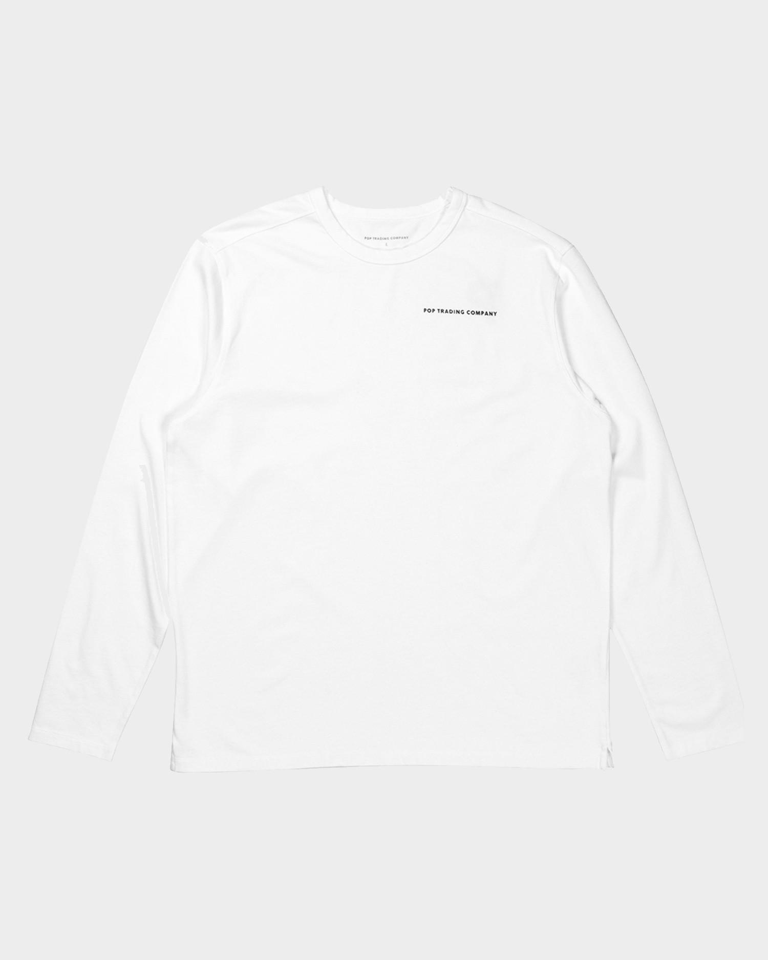 Pop Trading  Company Logo Longsleeve White/Black
