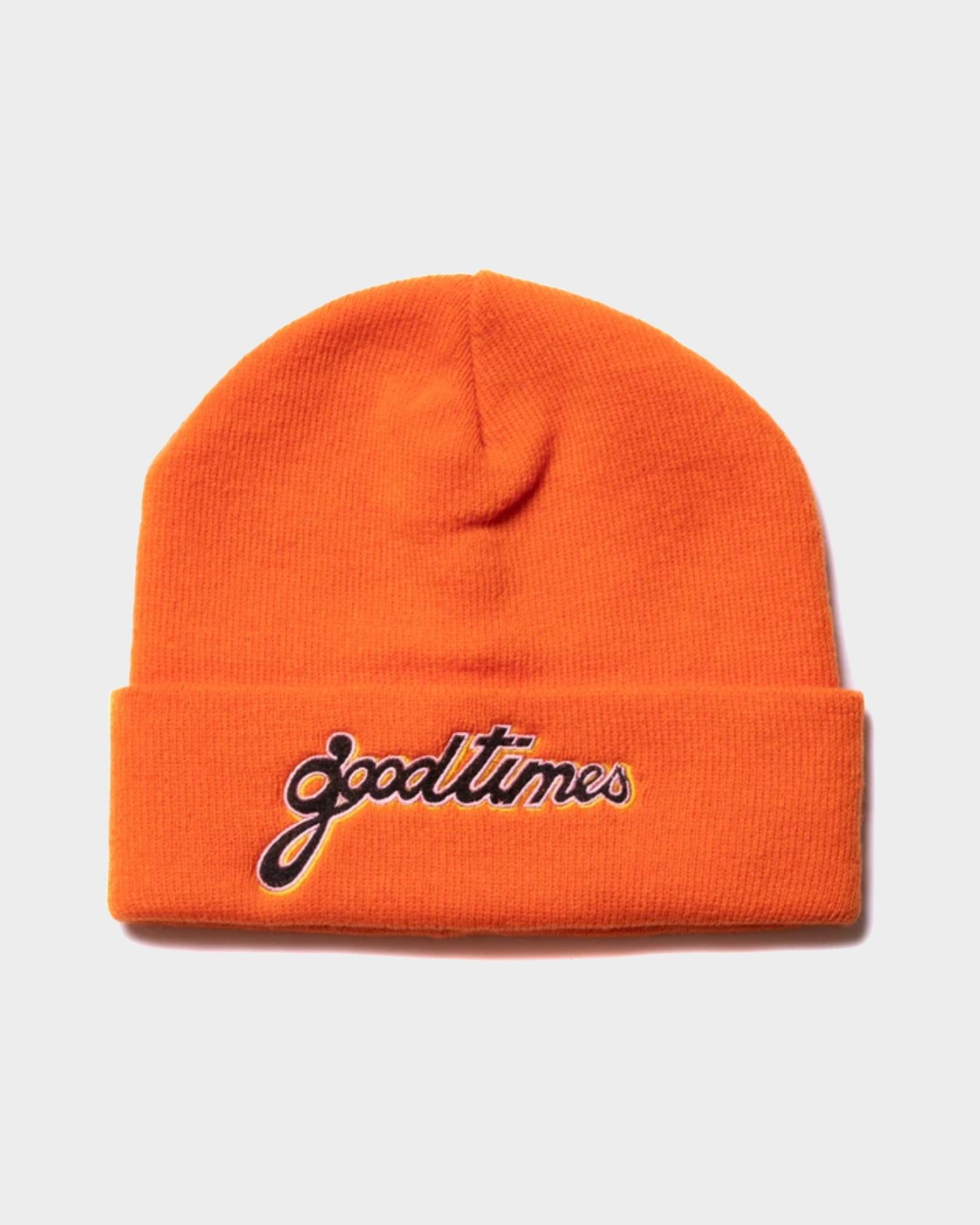 Have a good time Good Times beanie orange