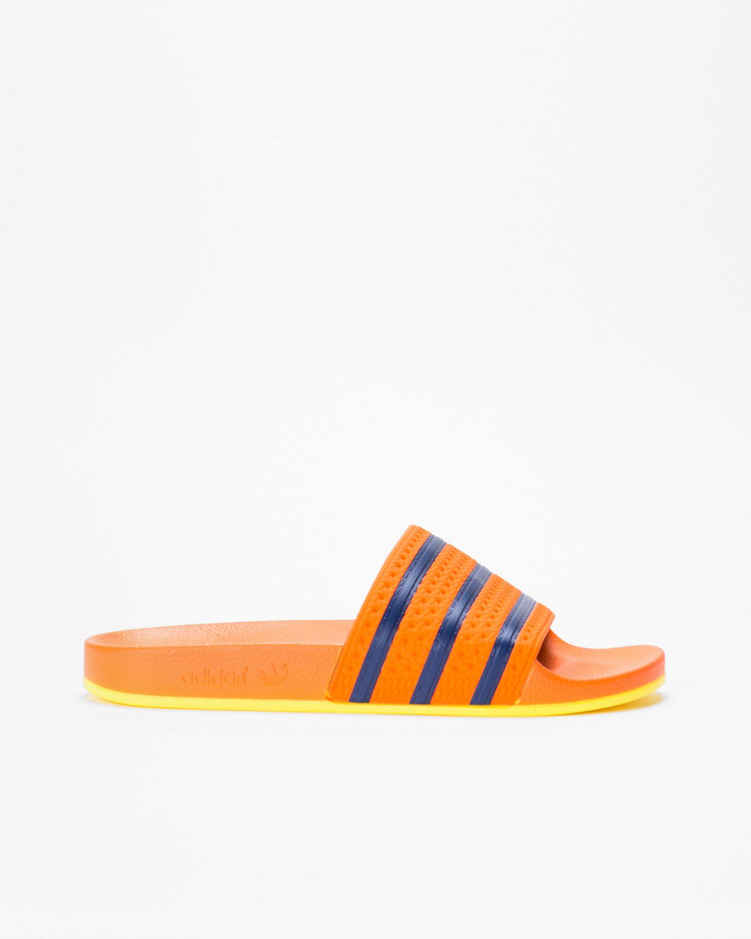 Adidas Adilette Trace Orange/ Hi-Res Orange/Dark Blue