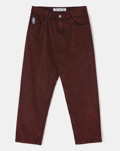 Polar Polar 93 denim pant Red Black