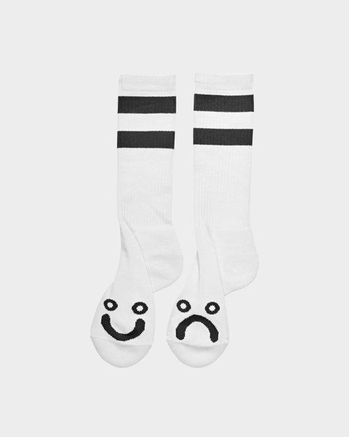 Polar Polar Happy Sad Sock White
