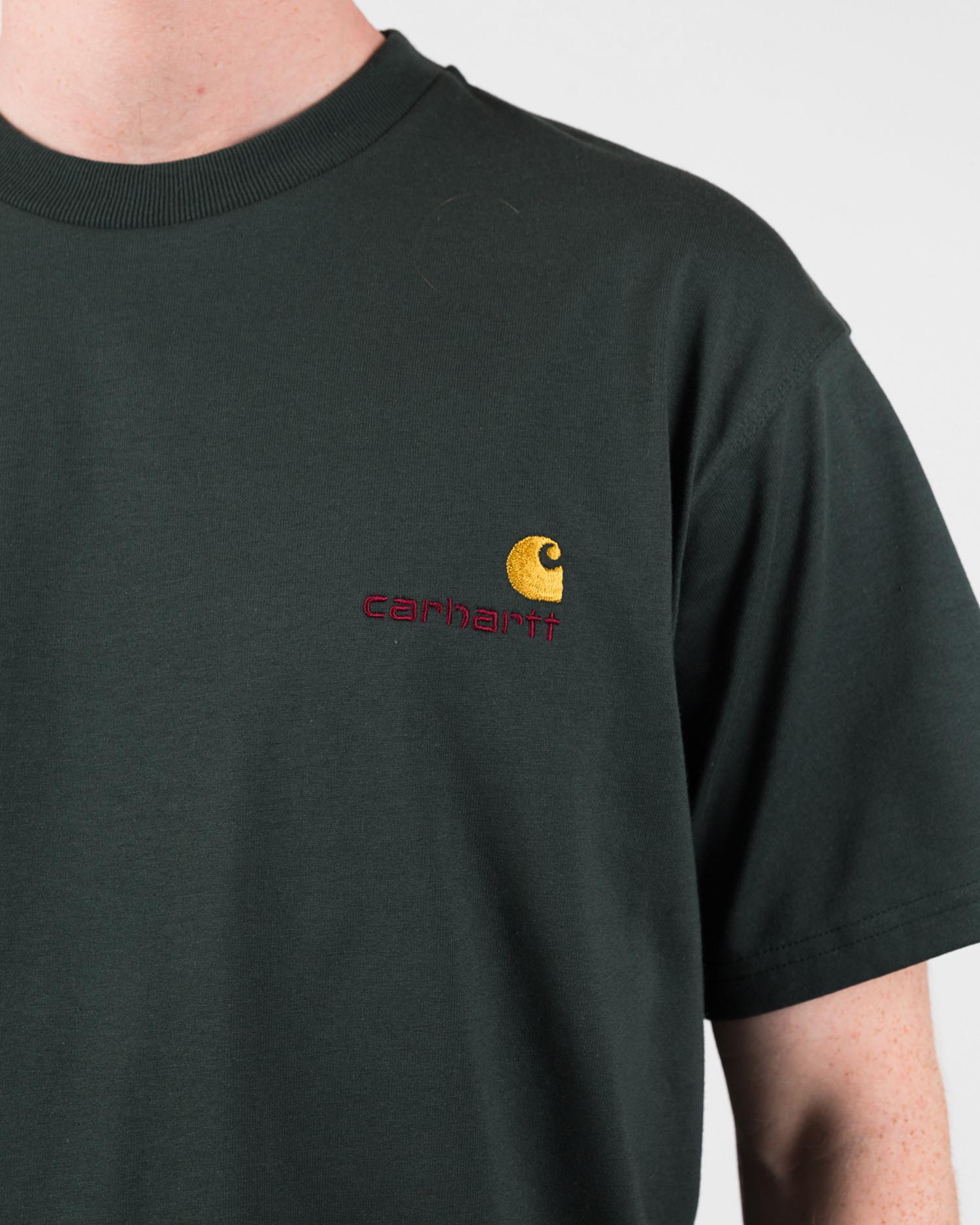Carhartt American Script T-Shirt Dark Teal