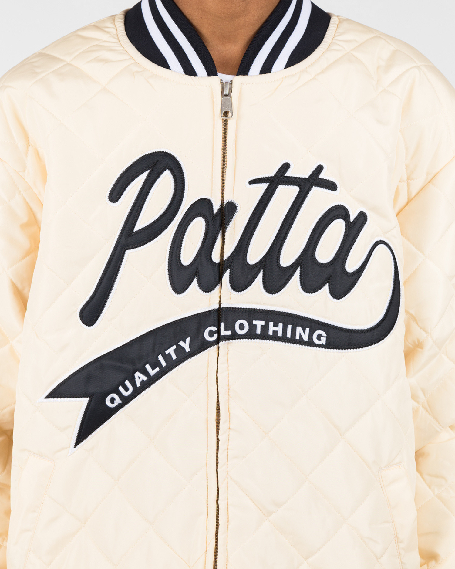 Patta Sport Quilted Jacket Cloud Cream
