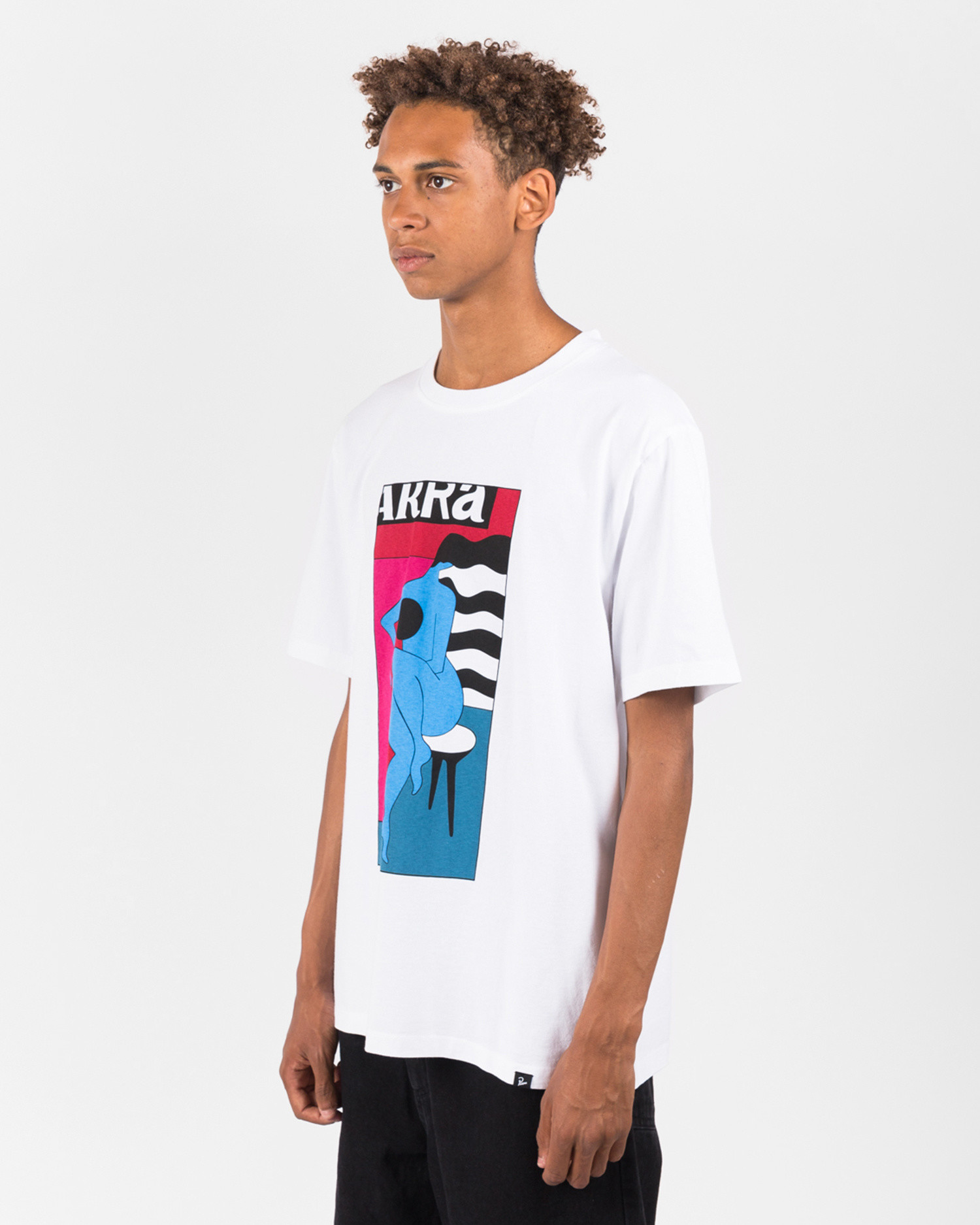 Parra Bar Stool T-shirt White