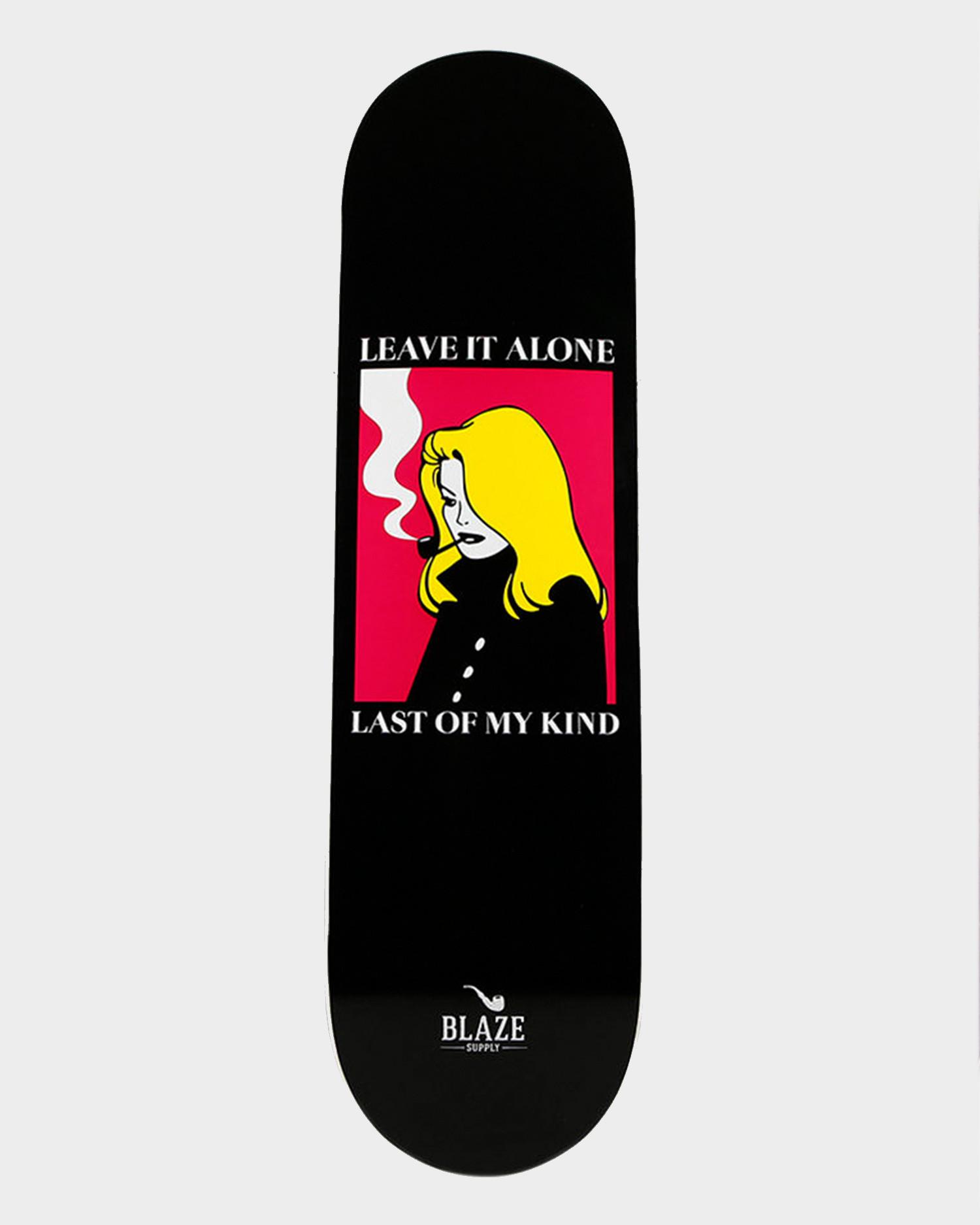 Blaze Girl Leave Deck Black 8.5
