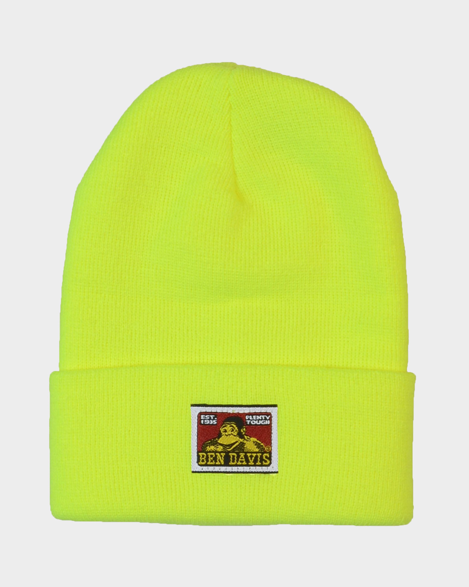 Ben Davis Beanie With Logo Safety Yellow