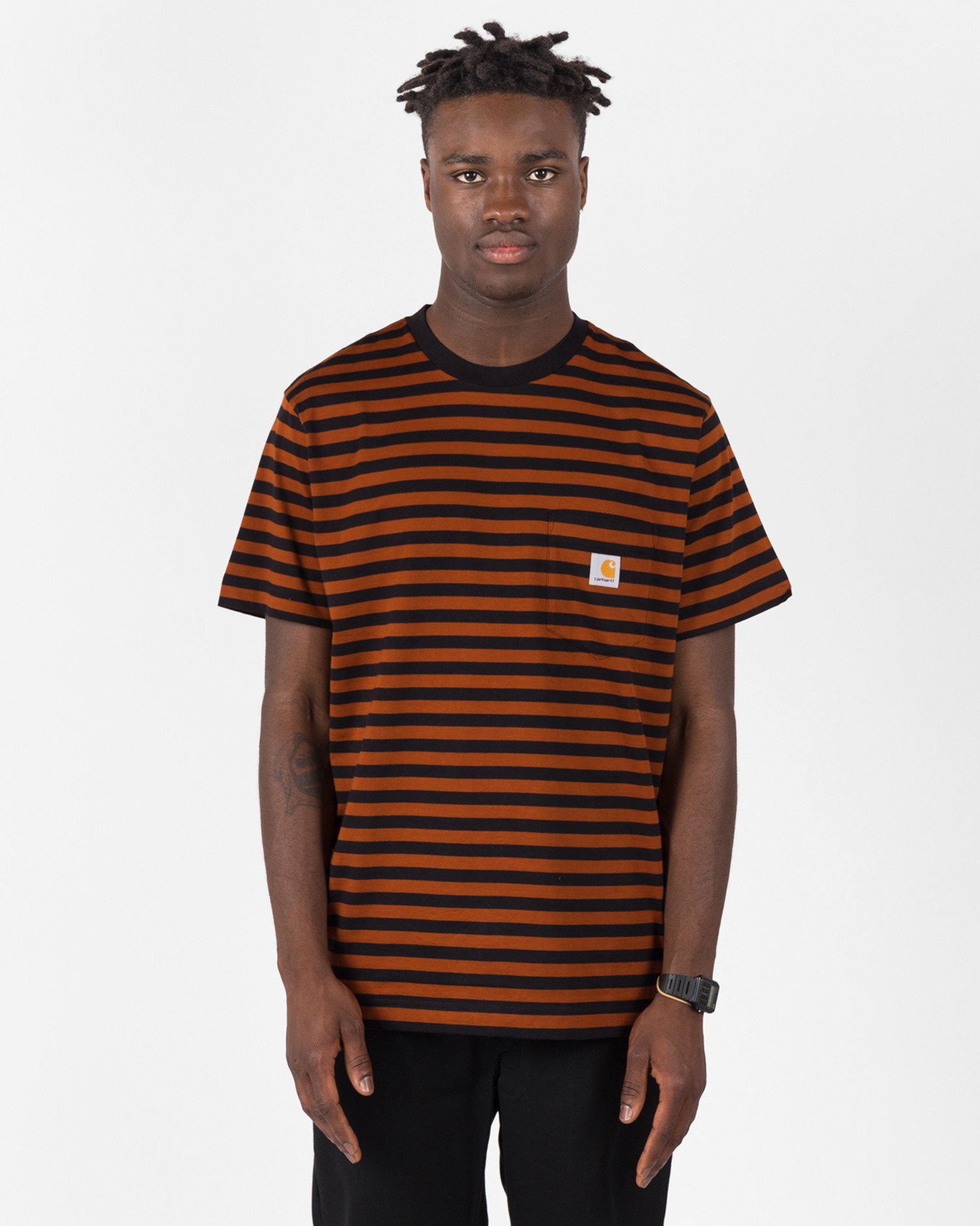 Carhartt Shortsleeve Pocket T-Shirt Stipe/Black
