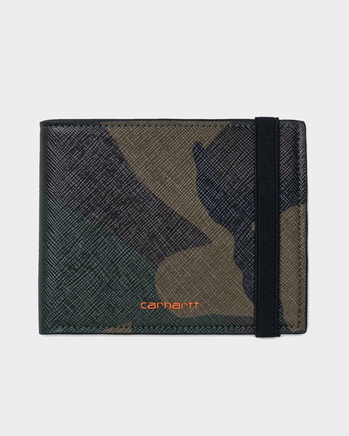 Carhartt Carhartt Coated Billfold Wallet Camo Laurel/Orange