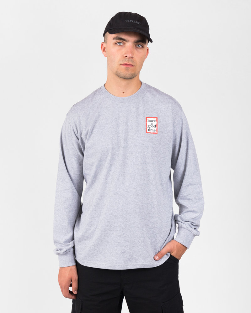HAVE A GOOD TIME Have A Good Time Mini Frame Longsleeve Tee Heather Grey