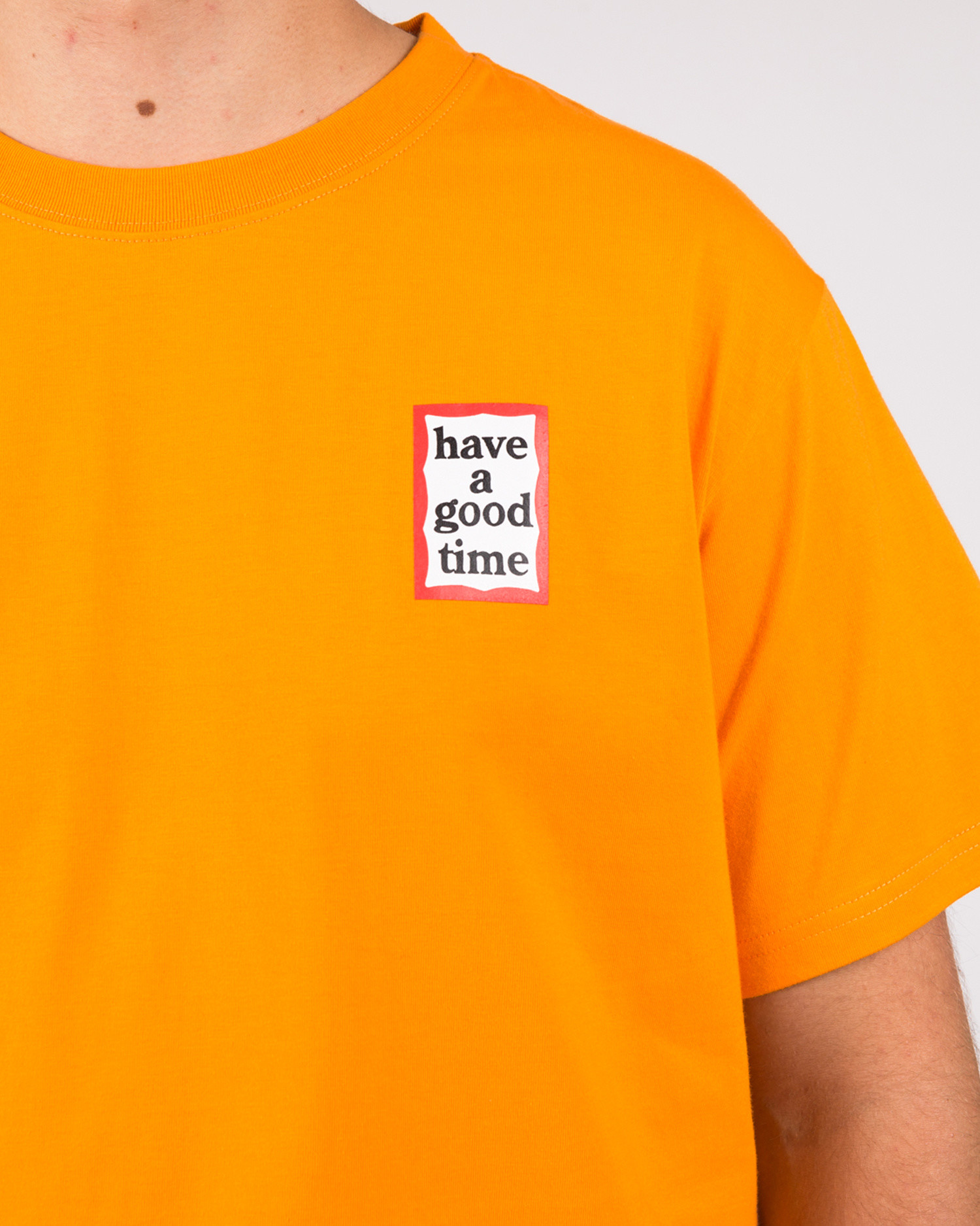 Have A Good Time Mini Frame Shortsleeve T-shirt Tangerine