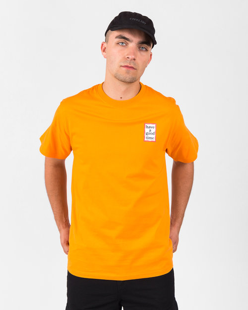 HAVE A GOOD TIME Have A Good Time Mini Frame Shortsleeve T-shirt Tangerine