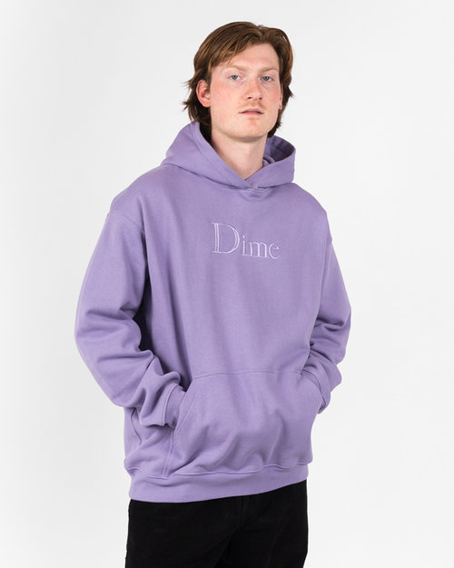 Dime Dime Classic Logo Embroidered Hoodie Lilac
