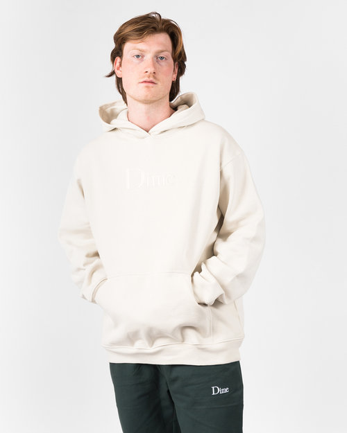 Dime Dime Classic Logo Embroidered Hoodie Cream
