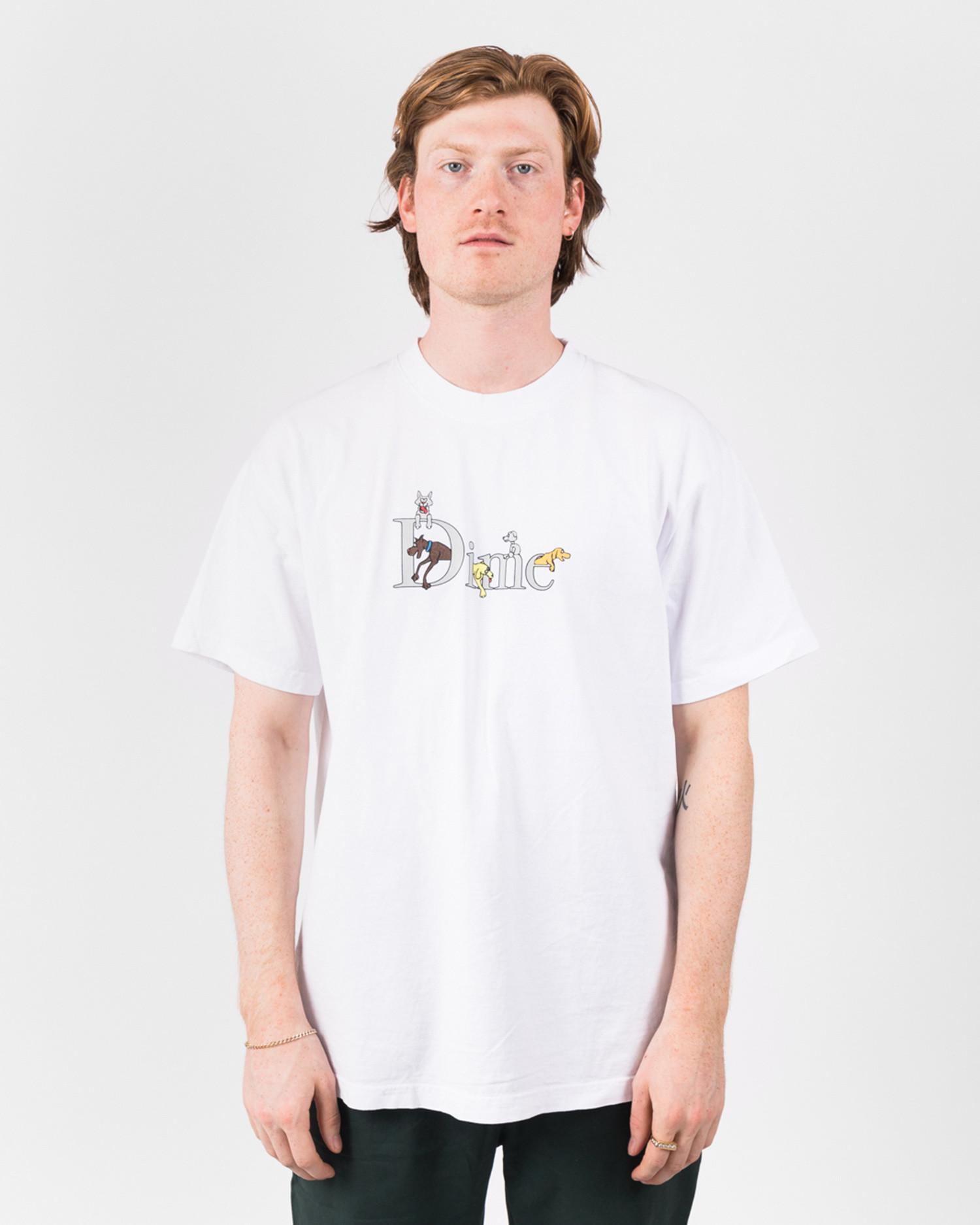 Dime Dog Classic Logo T-Shirt White