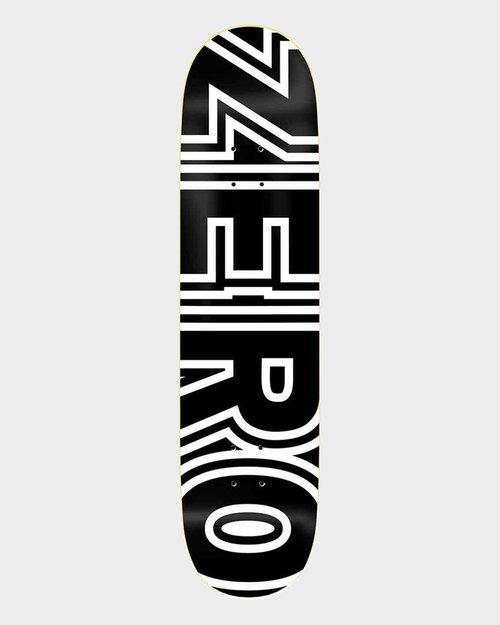 ZERO Zero Bold Black White deck 8.25 inch