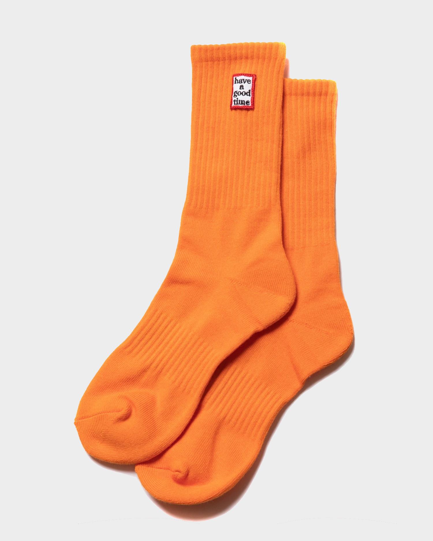 Have A Good Time Frame Socks Tangerine