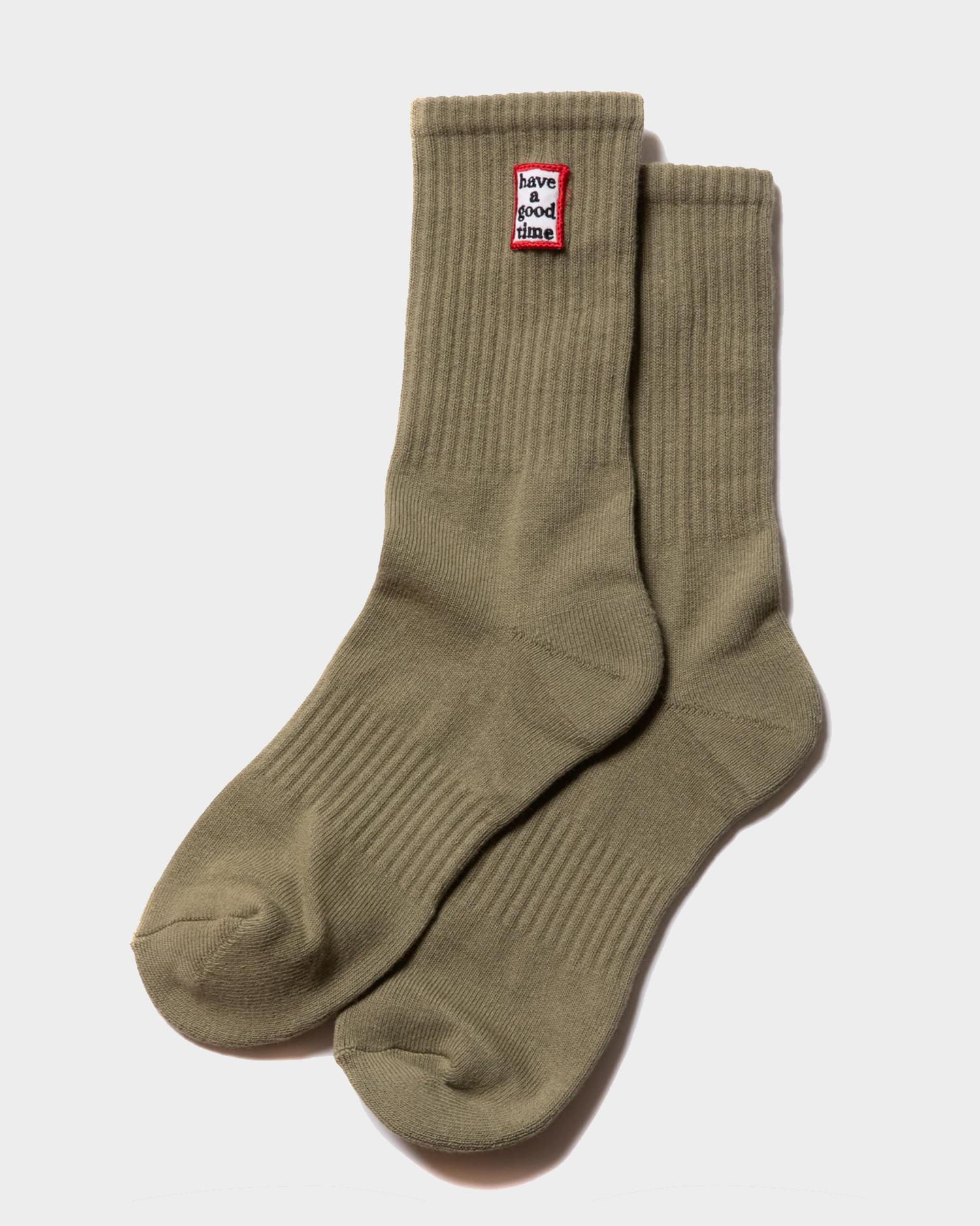 Have A Good Time Frame Socks Sage
