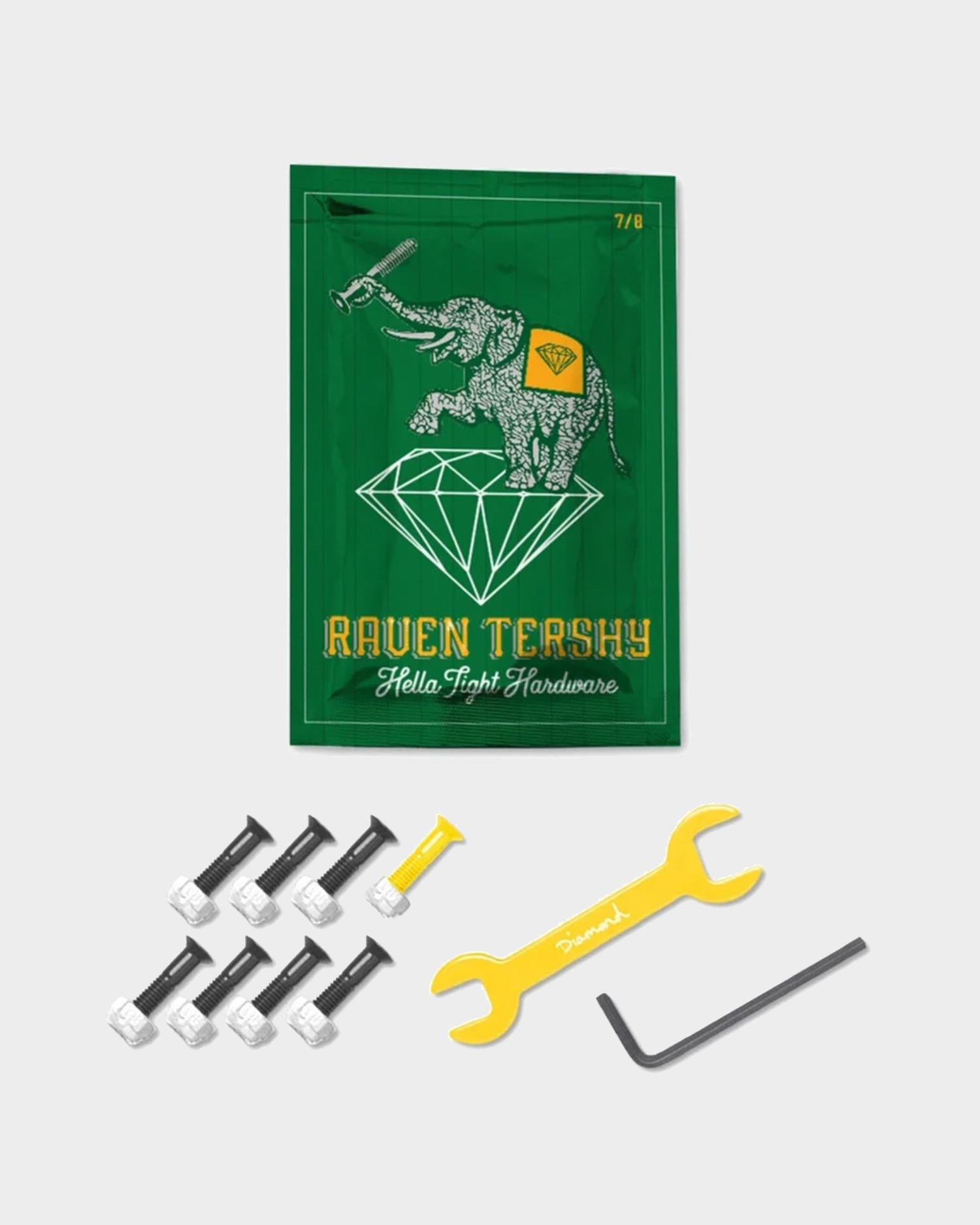 Diamond Bolts Raven Tershy Pro Hardware 7/8 inch Yellow