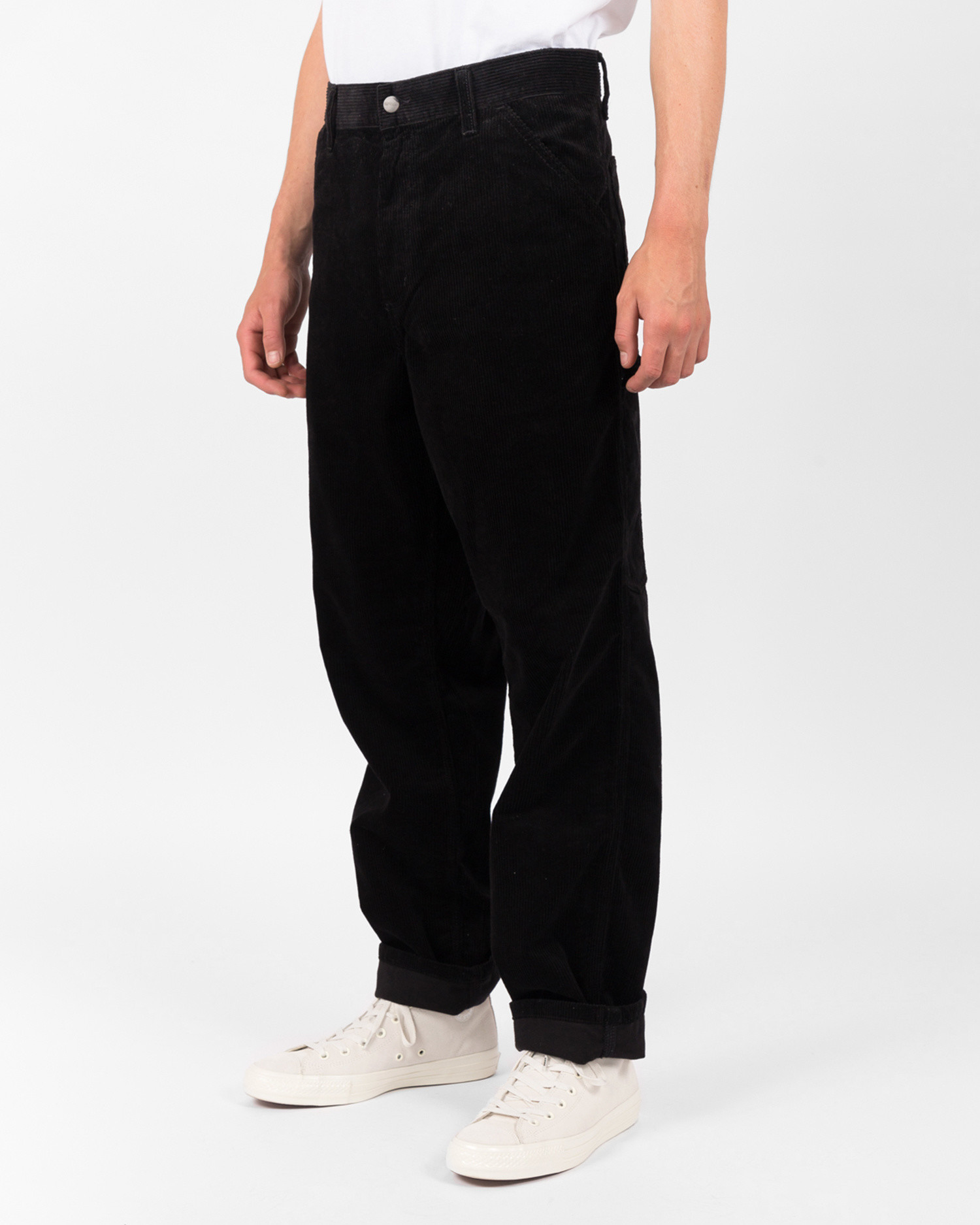 Carhartt Corduroy Single knee pant Cotton black rinsed
