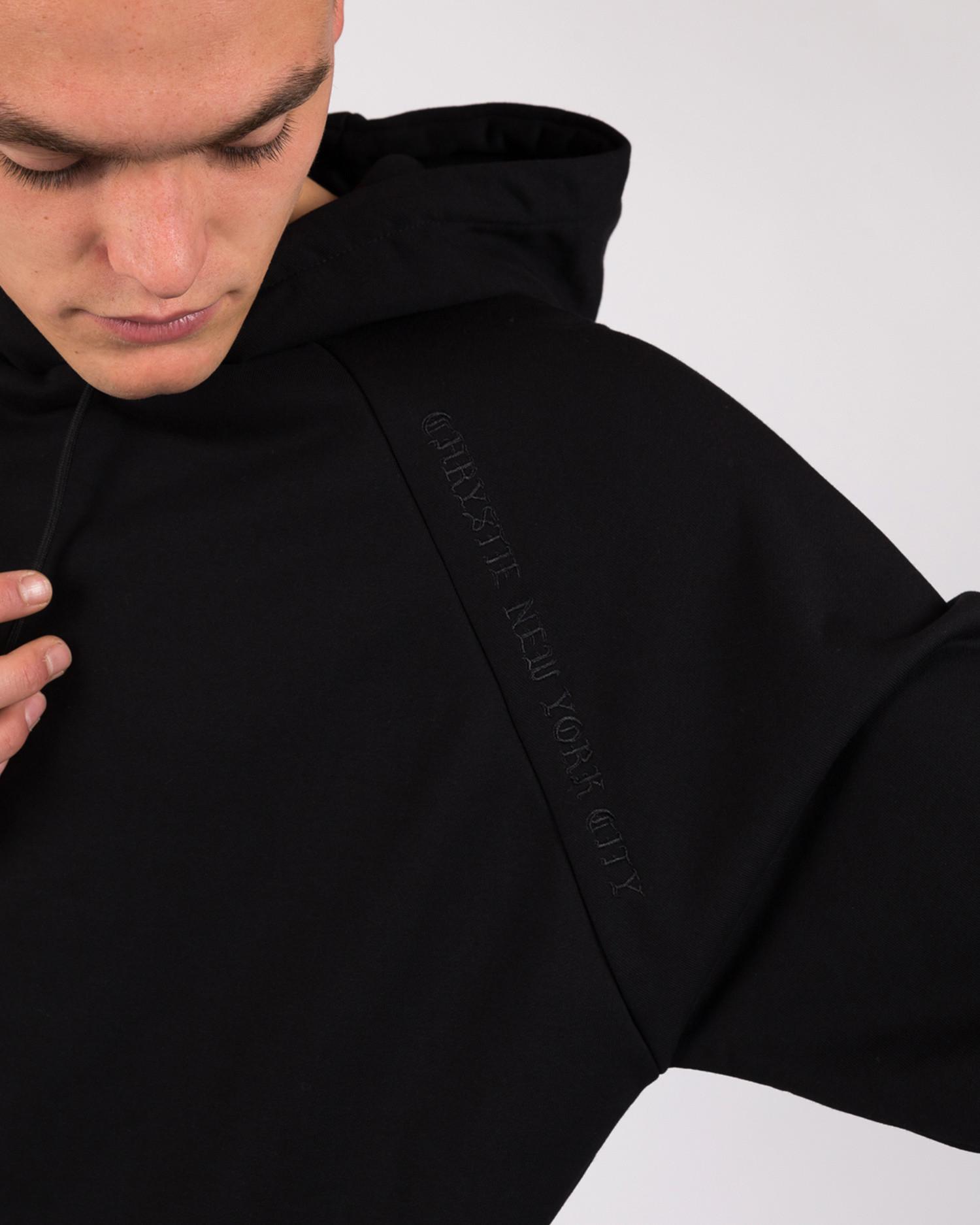 Chrystie NYC Clean Cut Side Pocket Hoodie Black