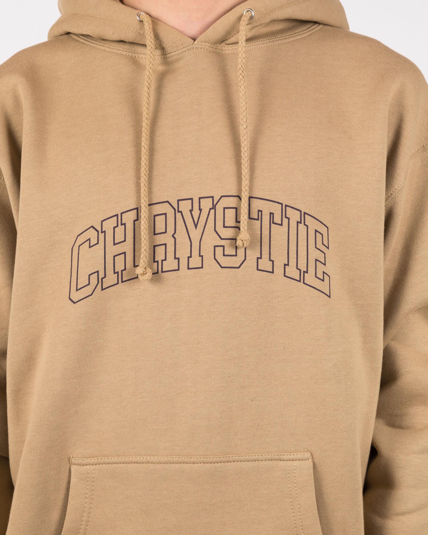 Chrystie NYC Collegiate Logo Heavyweight Hoodie Light Pink