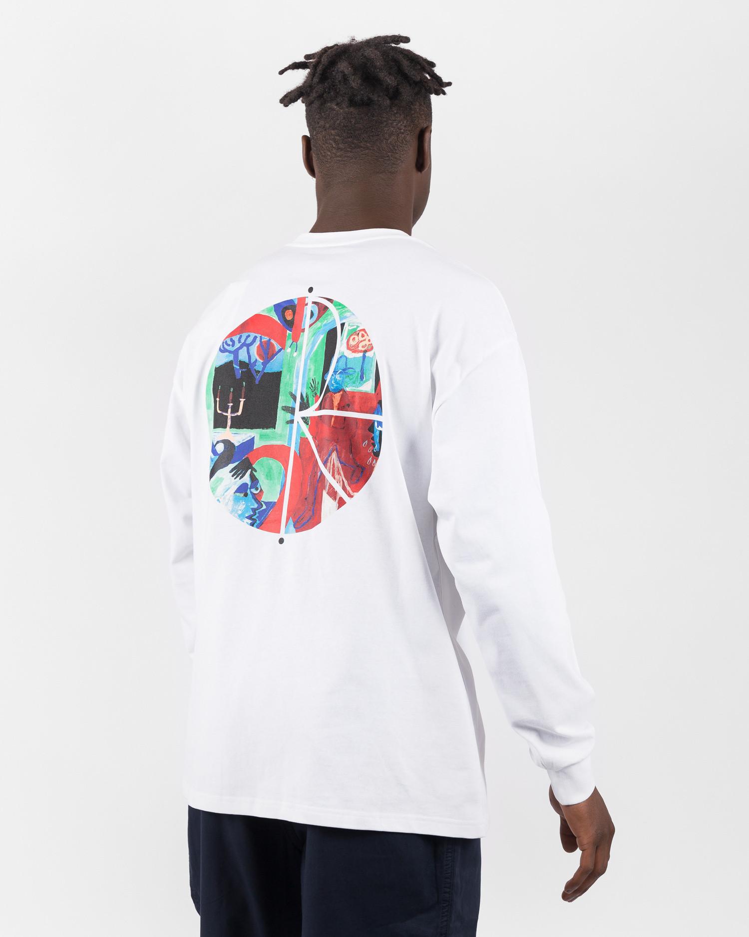 Polar Moth House Fill Logo Longsleeve White