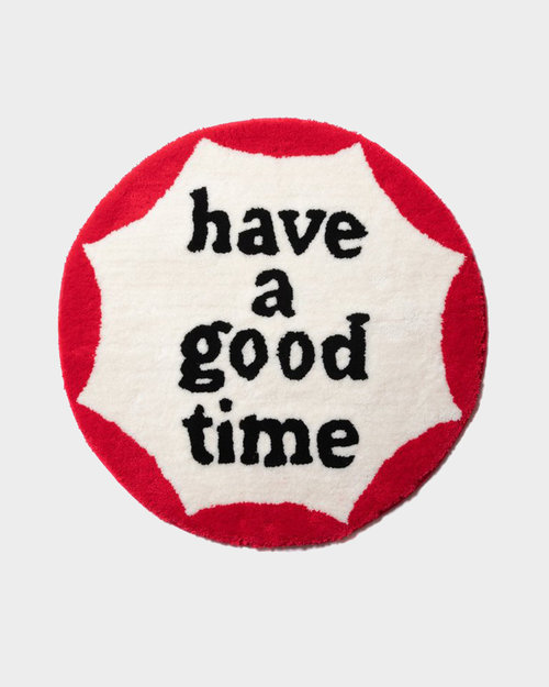 HAVE A GOOD TIME Have A Good Time Circle Frame Rug