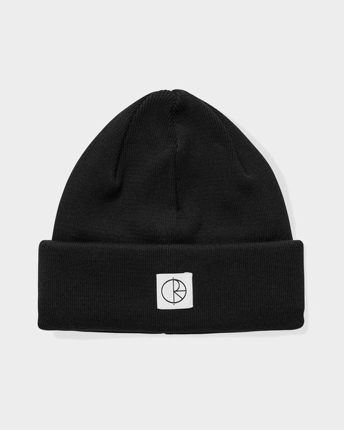 Polar Polar Double Fold Cotton Beanie Black