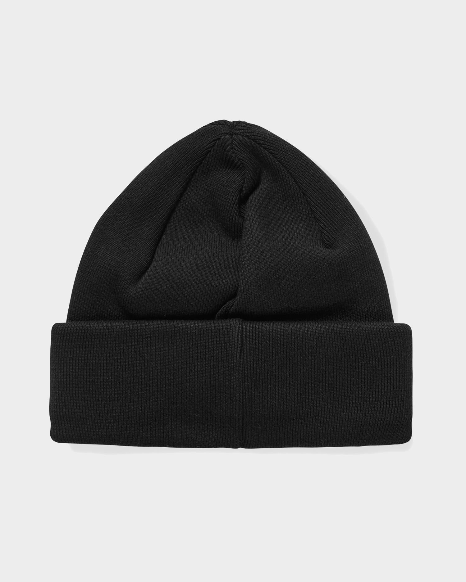 Polar Double Fold Cotton Beanie Black