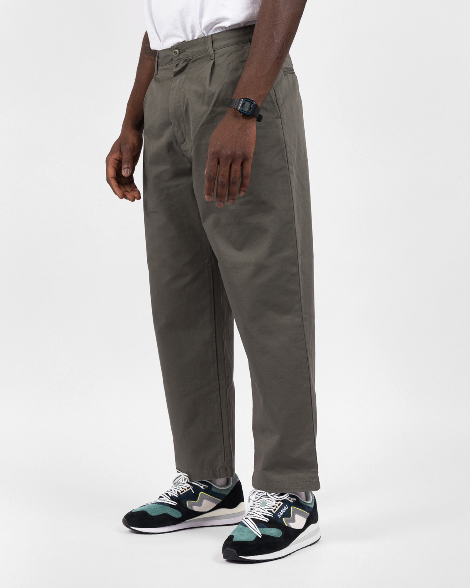 Carhartt Alder Pant Cotton Moor Stone Washed