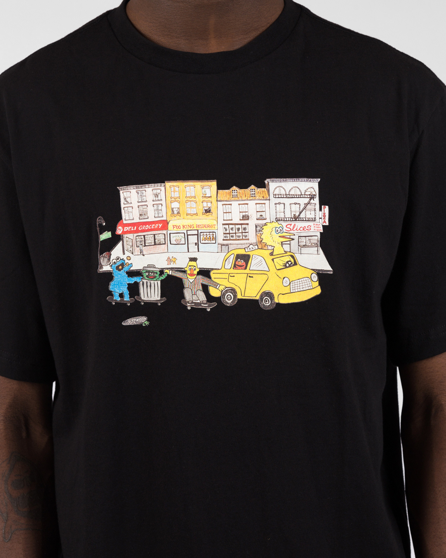 Chrystie NYC Street monsters  T-shirt Black