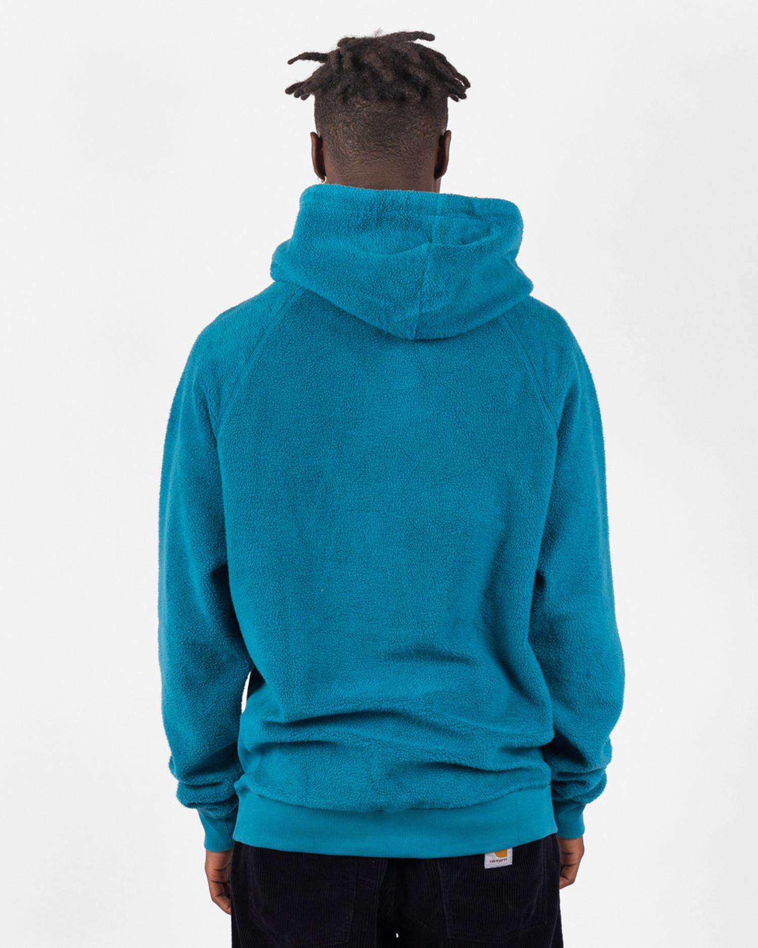 Chrystie NYC Prm Reversed Fleece Classic Logo Hoodie Teal