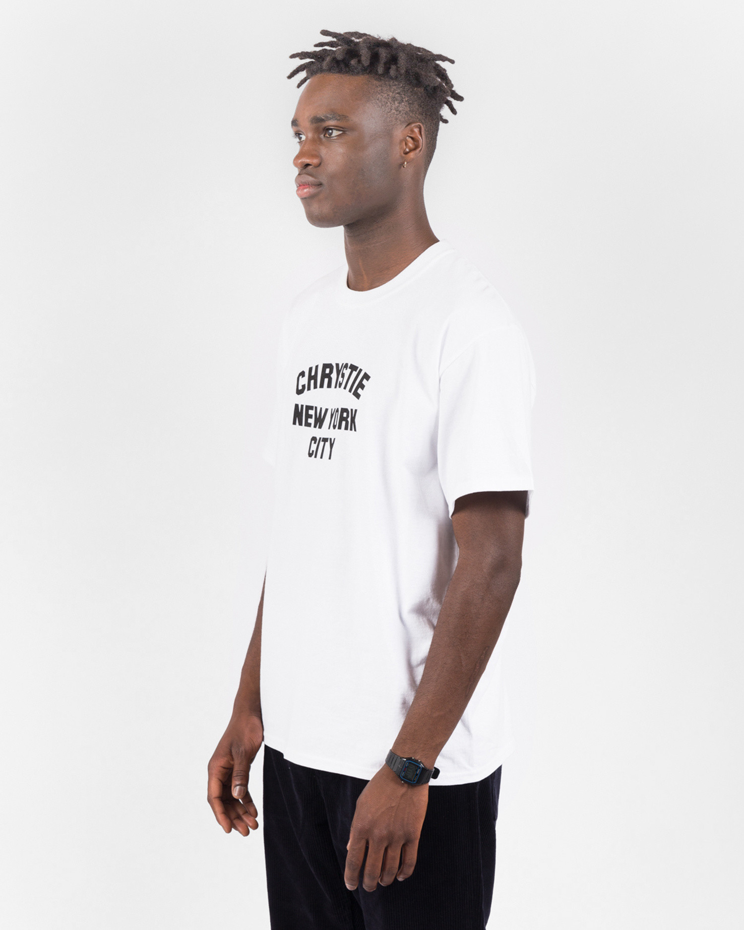 Chrystie  NYC Chrystie Varsity Logo T-Shirt white while