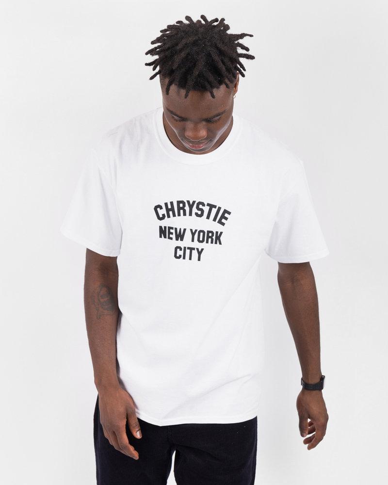Chrystie Chrystie  NYC Chrystie Varsity Logo T-Shirt white while