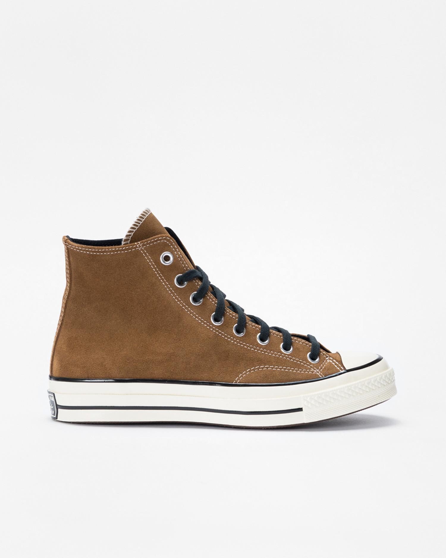 Converse Chuck 70 Hi Suede Clove Brown/Black/Egret