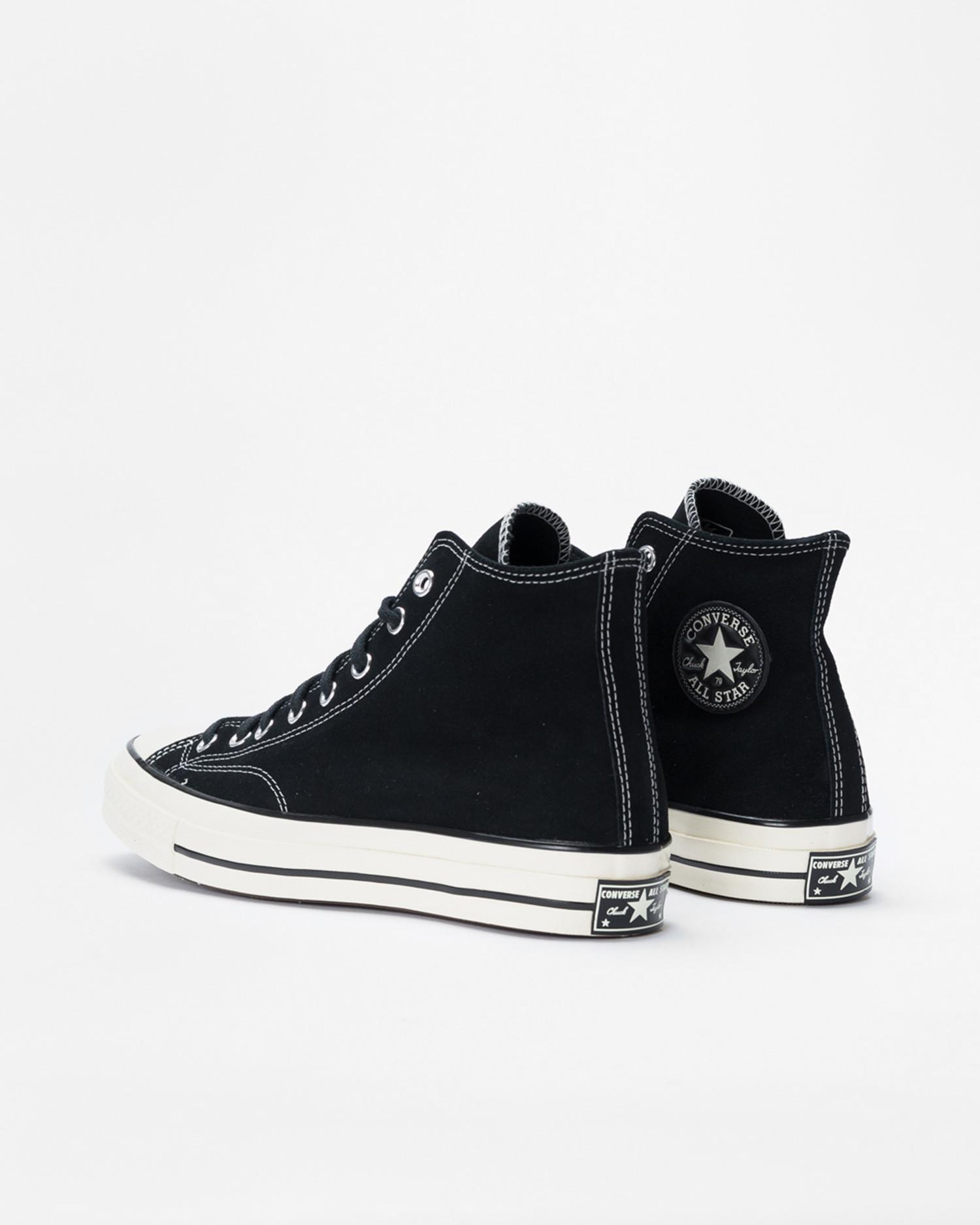 Converse Chuck 70 Hi Suede Black/Black/Egret
