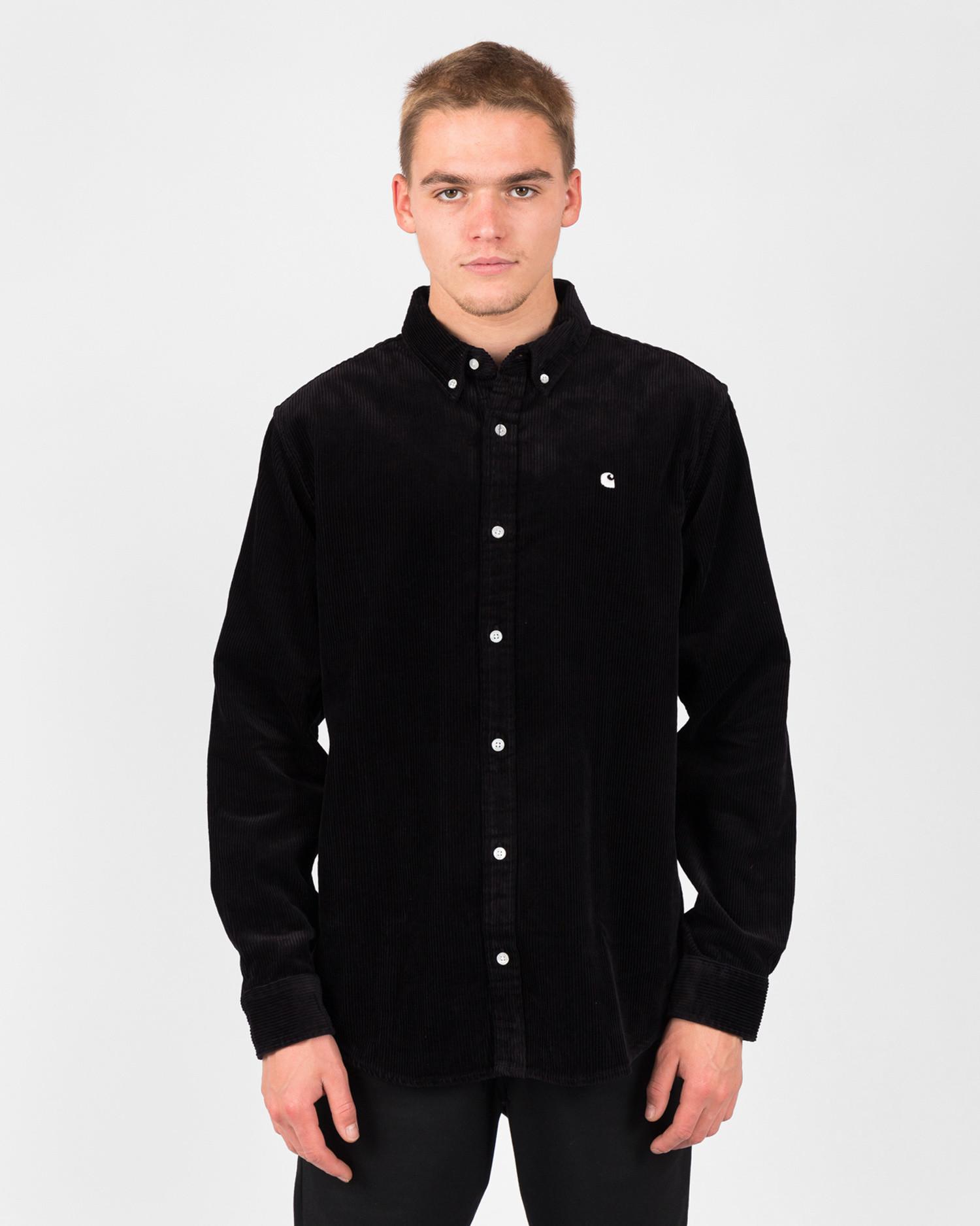 Carhartt Longsleeve Madison Cord Shirt Black/Wax