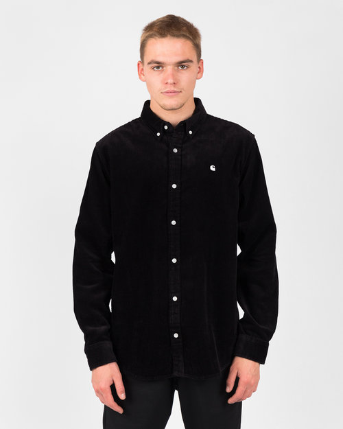 Carhartt Carhartt Longsleeve Madison Cord Shirt Black/Wax