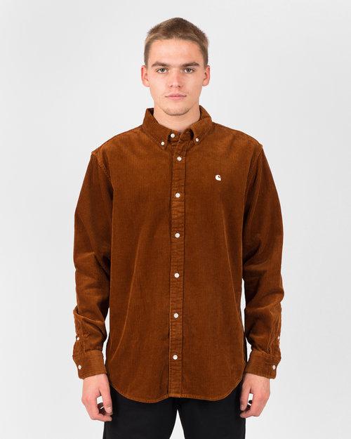Carhartt Carhartt Longsleeve Madison Cord Shirt Brandy/Wax