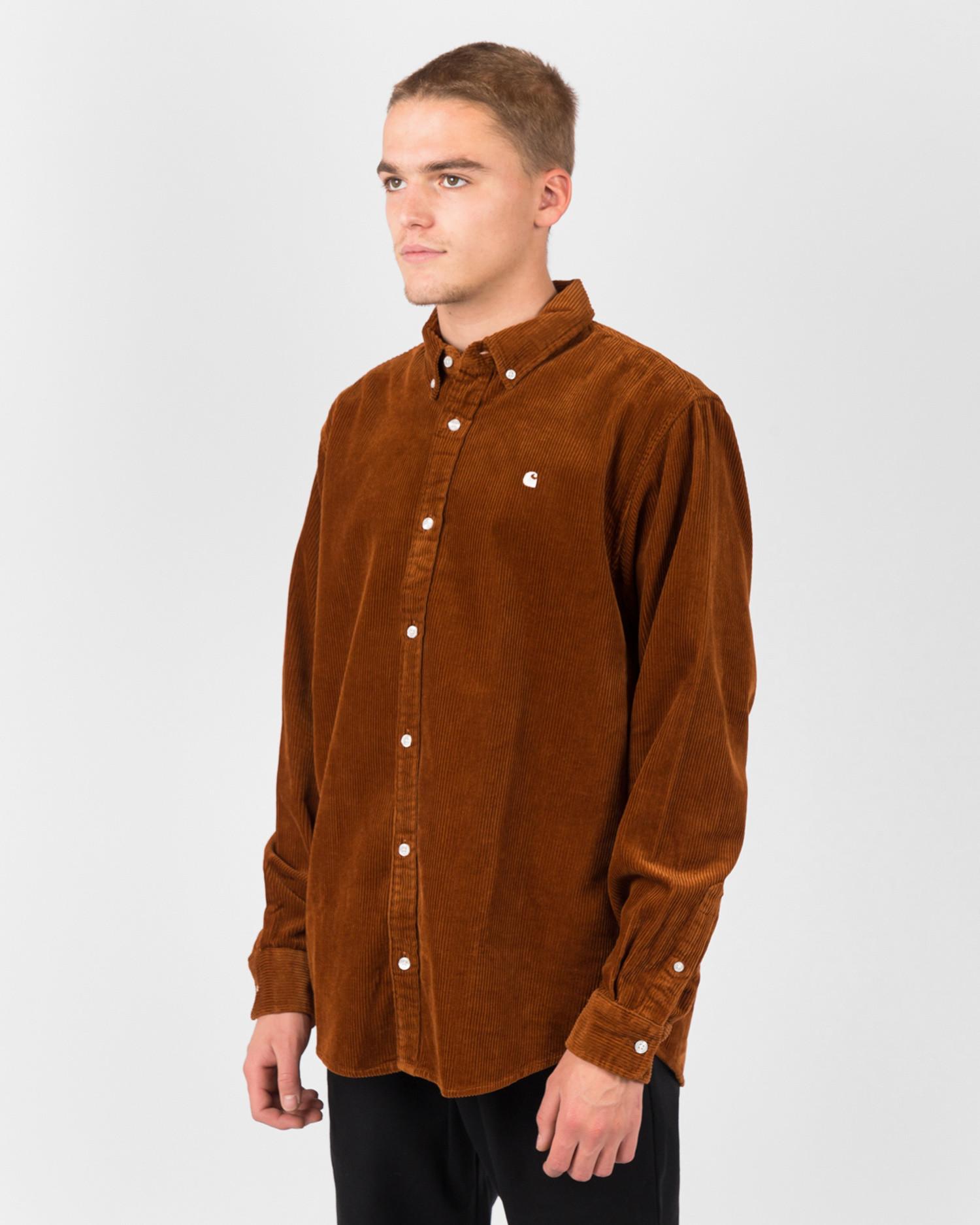 Carhartt Longsleeve Madison Cord Shirt Brandy/Wax